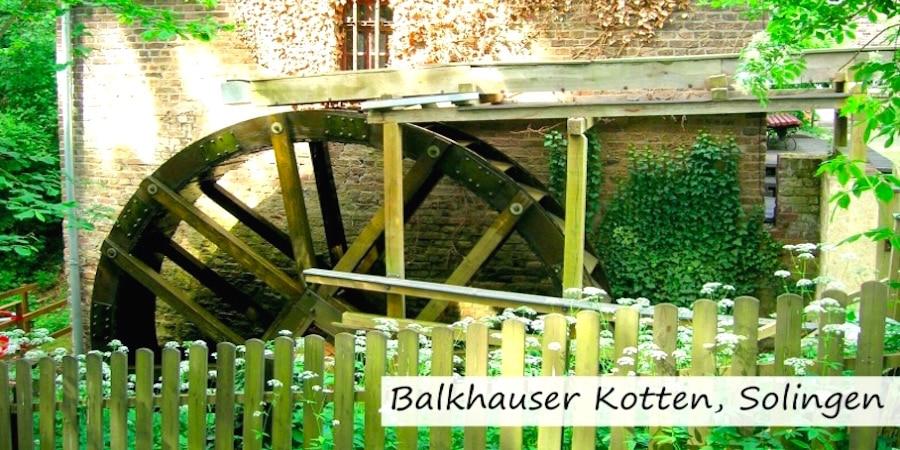 balkhauser kotten solingen - Deutscher Mühlentag: Mühlen & Wasserräder