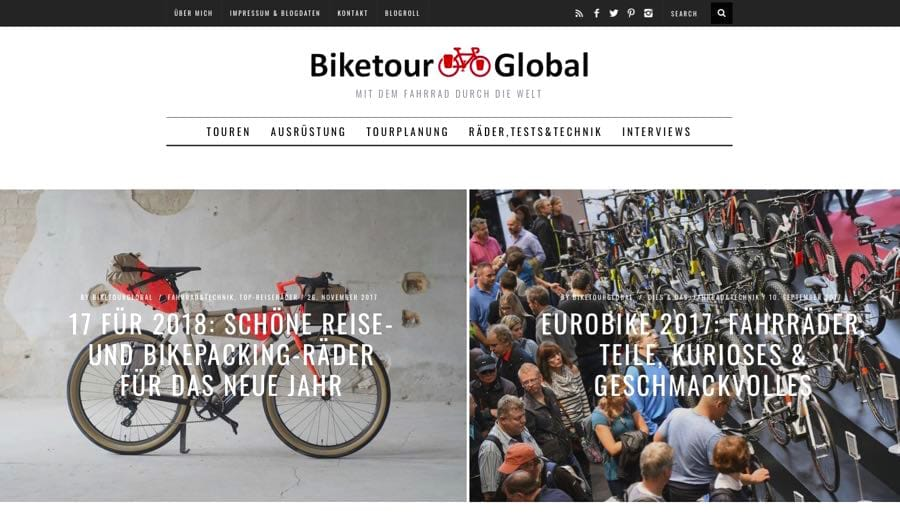 biketourglobal reiseblog - Die Top 10 Reiseblogger - meine Favoriten