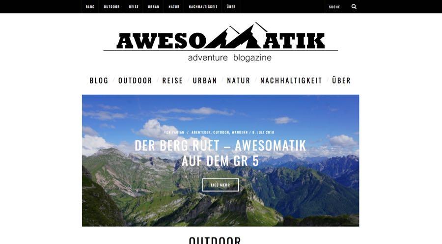 Awesomatik Outdoor Blogger Reiseblogger Fabian Heinl