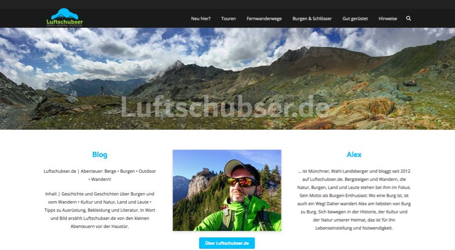 Luftschubser Outdoor Blogger Alexander Willig