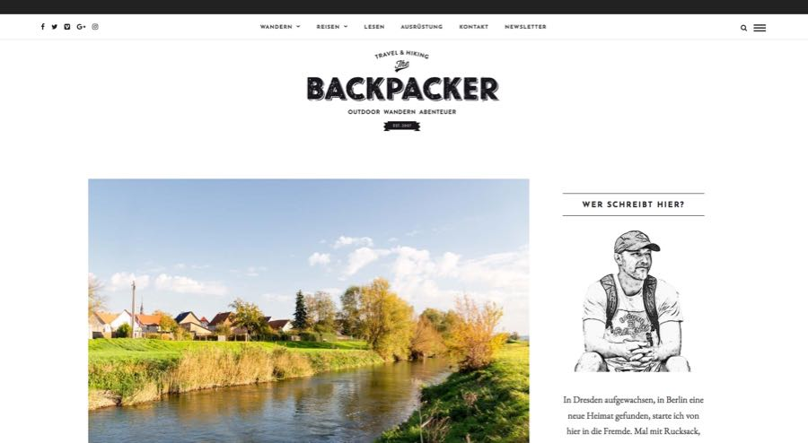 The Backpacker Sven Becker Reiseblogger Outdoor Blog