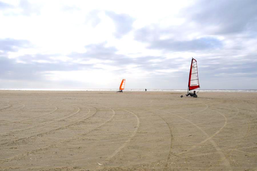 Outdoor-Aktivitäten Reisen Sportarten Blokart Fahren