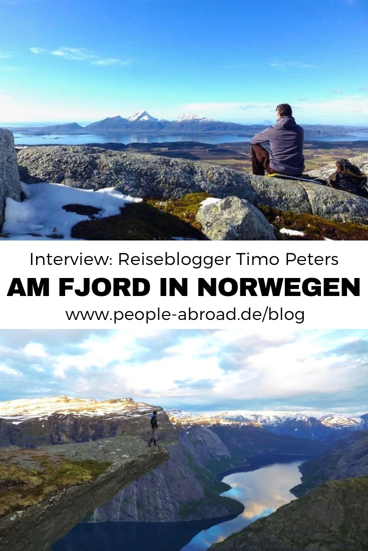 Interview: Reiseblogger Timo Peters am Fjord in Norwegen #Norwegen #Reiseblogger #Reiseblog #Skandinavien #Blogger