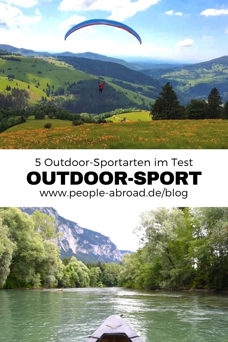 Werbung / 5 Outdoor-Sportarten im Test #Outdoor #Sport #Adventure #Reisen