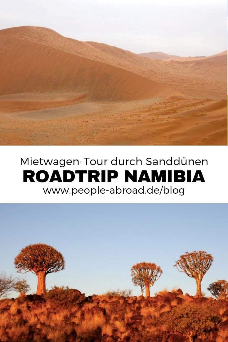 Roadtrip Namibia - Mietwagen-Tour durch die Sanddünen in Namibia. #Reise #Reisetipps #Roadtrip #Afrika #Namibia