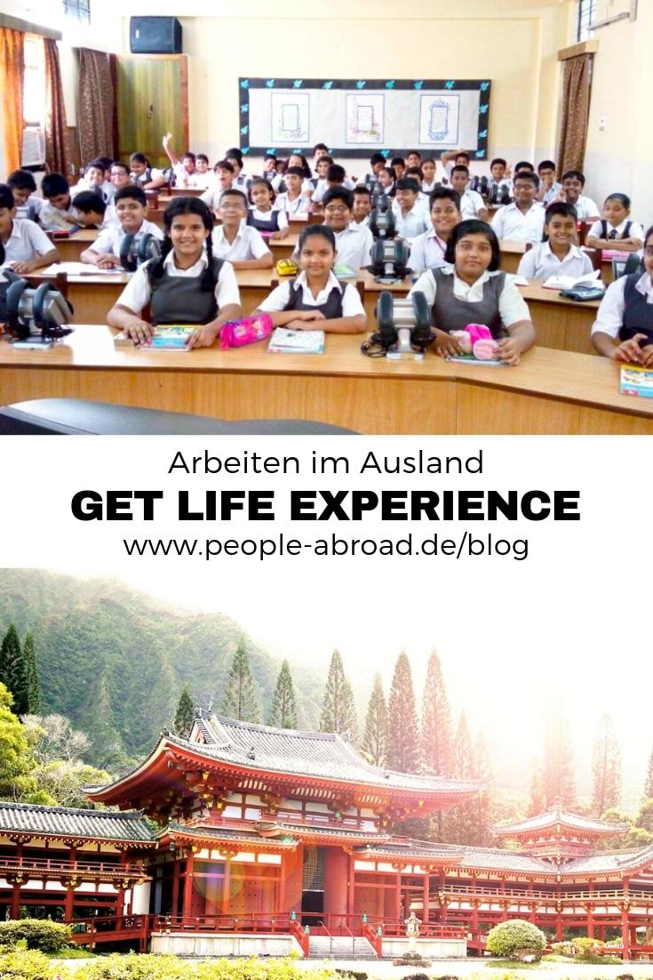 Arbeiten im Ausland mit Get Life Experience. #Volunteering #Praktikum #Freiwilligendienst #Ausland #Workandtravel