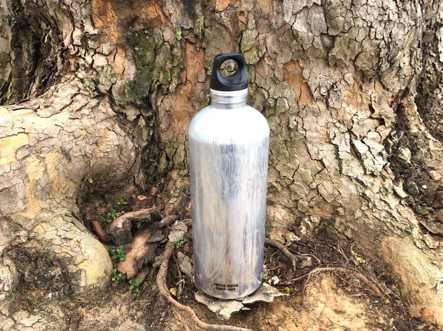 Nachhaltig leben Trinkflasche Wandern