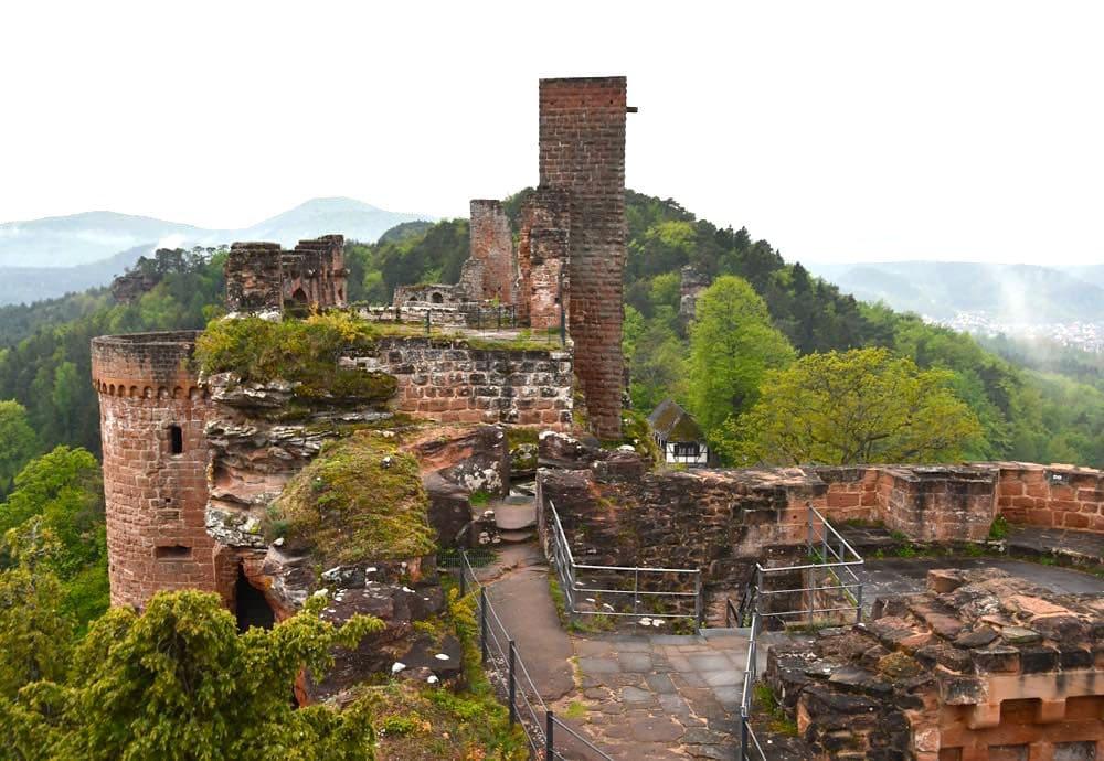 Pfalz Burg Altdahn Burgengruppe