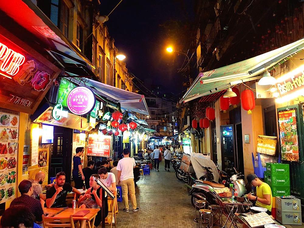 hanoi altstadt ta hien strasse - Hanoi in Vietnam: Liebe auf den dritten Blick