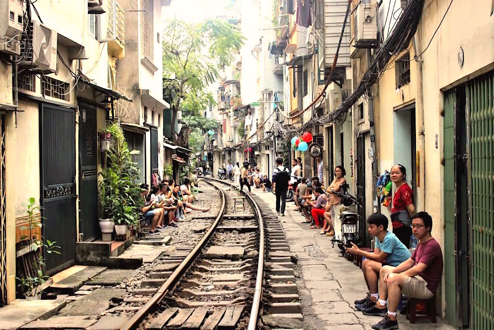 Hanoi Vietnam Train Street