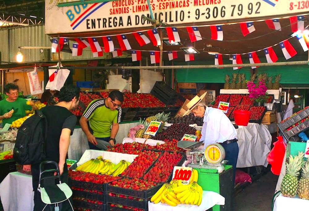 Santiago de Chile Markt Obst Einkaufen