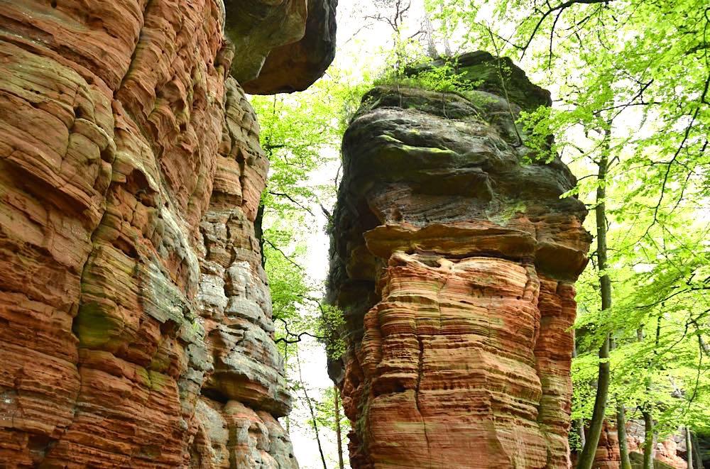 Pfälzerwald Wanderwege Felsen