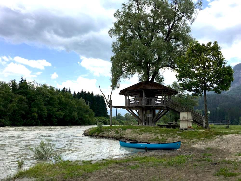 kanufahren paddeln kaernten drau 10 - Kanufahren auf der Drau in Kärnten
