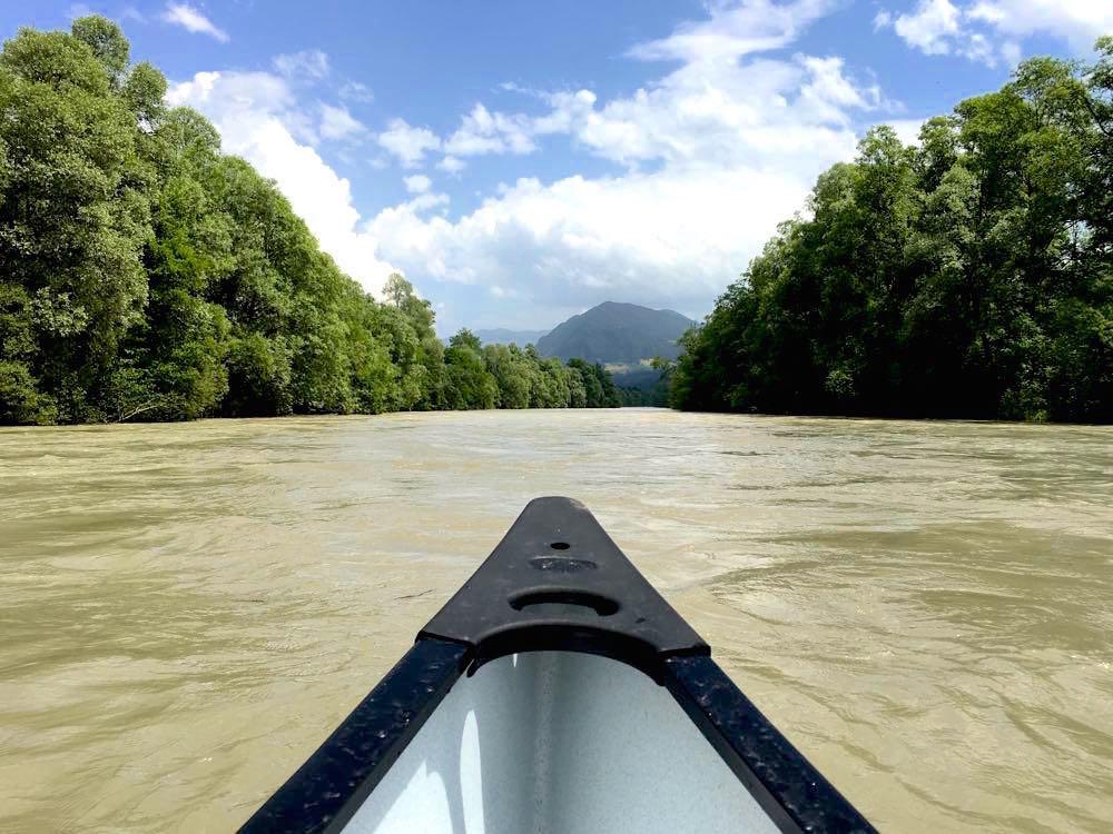 Kanufahren Flusswandern Kanu Kajak Drau Kärnten Österreich