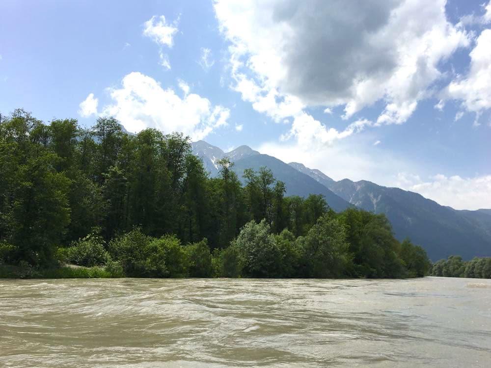 kanufahren paddeln kaernten drau 3 - Kanufahren auf der Drau in Kärnten