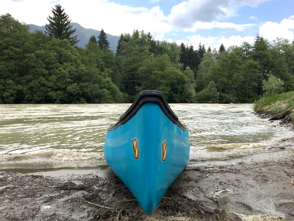 kanufahren paddeln kaernten drau 9 - Kanufahren auf der Drau in Kärnten