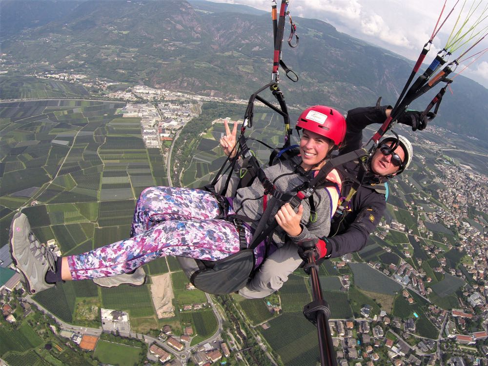 Südtirol FlyMeran Paragliding Tandemflug Fallschirm