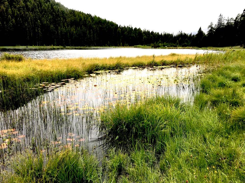 Nauders Reschenpass Tirol Wandern Schwarzer See