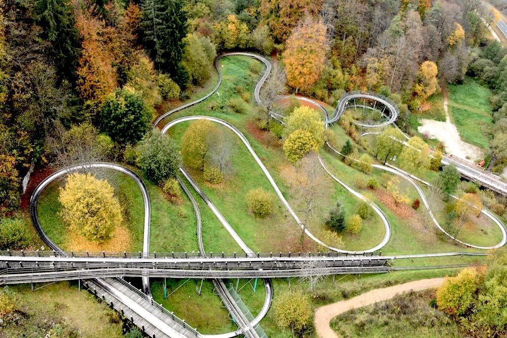 Fränkische Schweiz Pottenstein Erlebnisfelsen Rodelbahn