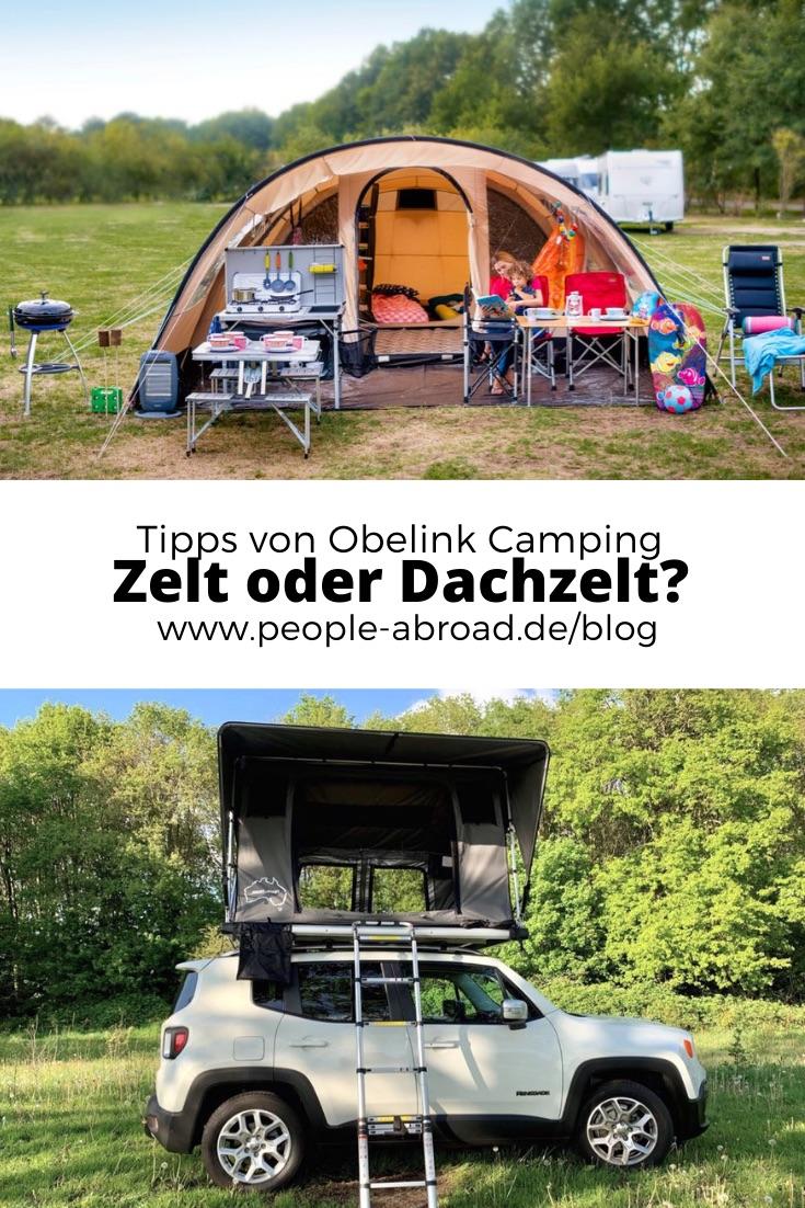 zelt dachzelt obelink camping - Obelink: Zelt oder Dachzelt - Infos & Tipps
